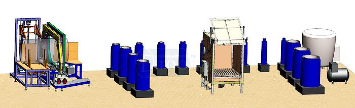 Линия по производству термоусаживаемых муфт